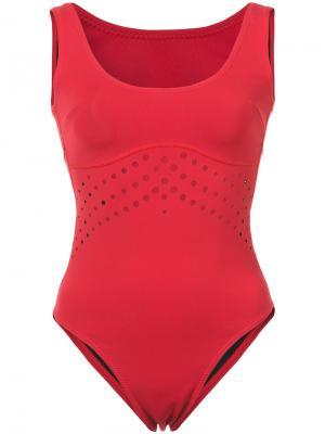 Слитный купальник Racy Cynthia Rowley. Цвет: красный
