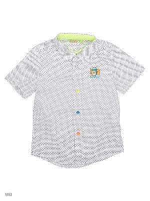 Рубашка Liguo. Цвет: белый