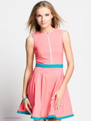 Платье Verezo. Цвет: светло-коралловый, бирюзовый