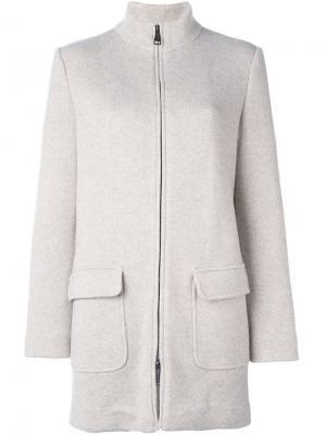 Укороченное пальто на молнии Manzoni 24. Цвет: телесный