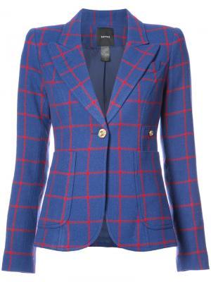 Пиджак с V-образным вырезом Smythe. Цвет: синий