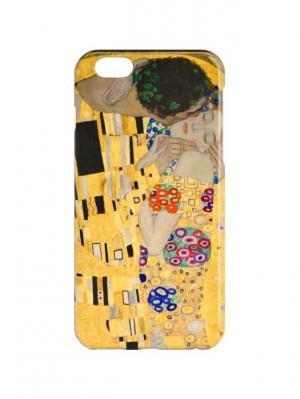 Чехол для iPhone 6Plus Климт-Поцелуи Арт. 6Plus-248 Chocopony. Цвет: желтый, черный, бежевый