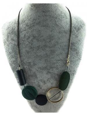 Колье Miss Bijou. Цвет: черный, зеленый, темно-зеленый, золотистый