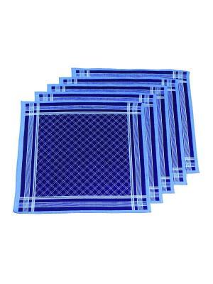 Платок, 10 шт Римейн. Цвет: темно-синий, голубой