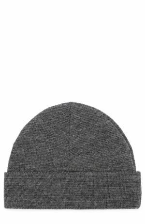 Шерстяная шапка бини Ami. Цвет: светло-серый
