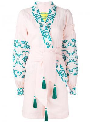 Короткий комбинезон Spell Yuliya Magdych. Цвет: розовый и фиолетовый
