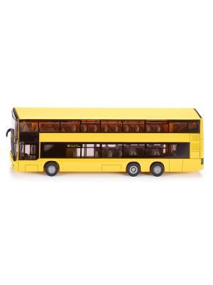 Автобус MAN городской двухэтажный SIKU. Цвет: светло-оранжевый, желтый, светло-желтый