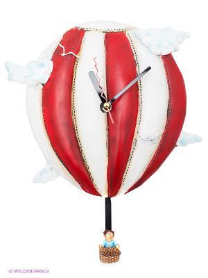 Часы Время летит The Comical World of Stratford. Цвет: красный, белый