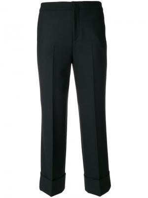 Укороченные брюки с подвернутыми манжетами Pt01. Цвет: чёрный