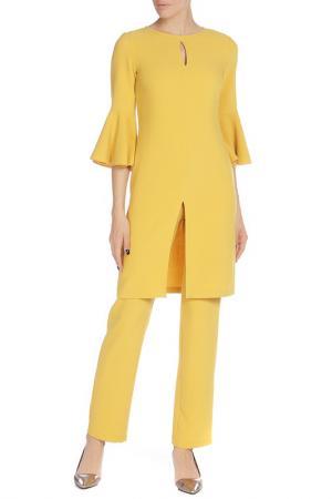 Костюм: платье, брюки Adzhedo. Цвет: желтый