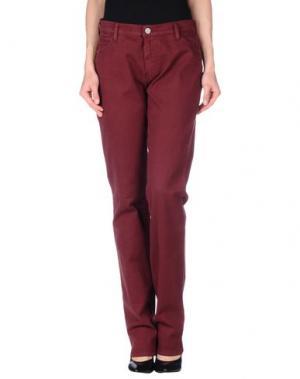Повседневные брюки XANDRES. Цвет: красно-коричневый
