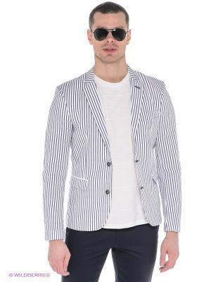 Пиджак Oodji. Цвет: белый, серый