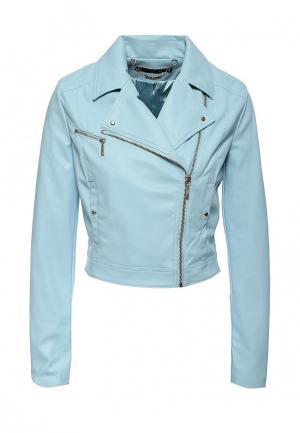 Куртка кожаная Love Republic. Цвет: голубой