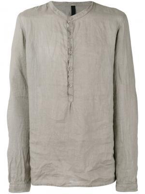 Рубашка с воротником в китайском стиле Poème Bohémien. Цвет: серый