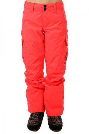 Штаны сноубордические женские DC Ace Fiery Coral Shoes. Цвет: розовый