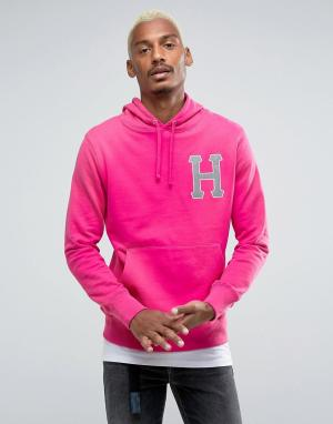 HUF Худи со светоотражающим логотипом. Цвет: розовый