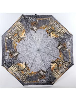 Зонт Zest, 3 слож, ПолнАвто, П-Э Zest. Цвет: серый, коричневый, темно-серый