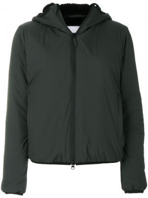Куртка с капюшоном Aspesi. Цвет: зелёный