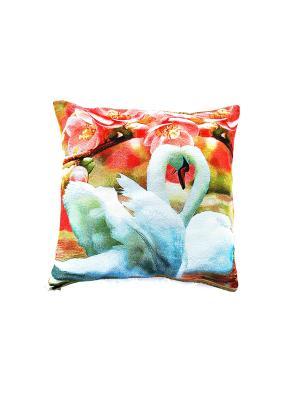Декоративная подушка 45х45 La Pastel. Цвет: розовый, белый
