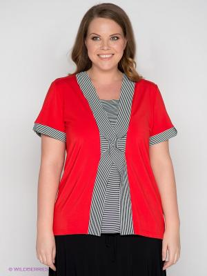 Блузка SVESTA. Цвет: красный, белый, черный