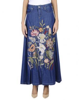 Джинсовая юбка NOLITA. Цвет: синий