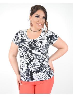 Блуза Увертюра Полное счастье. Цвет: черный, белый