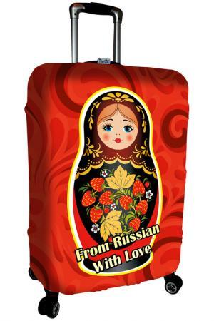 Чехол на чемодан SOVA COVER. Цвет: красный