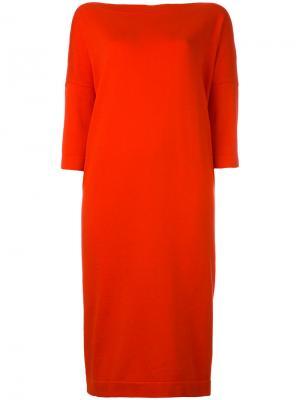 Платье с укороченными рукавами Daniela Gregis. Цвет: красный