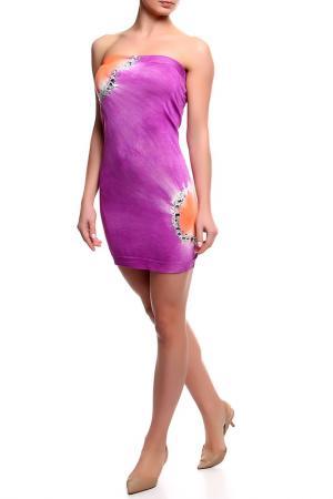 Приталенное платье-бандо Blumarine. Цвет: лиловый