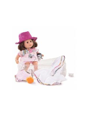 Кукла Аквини европейка, брюнетка GOTZ. Цвет: белый, розовый