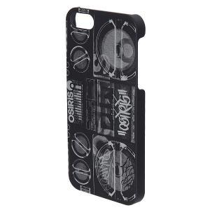 Чехол для iPhone 5  Cover Boombox Black/White Osiris. Цвет: черный,белый