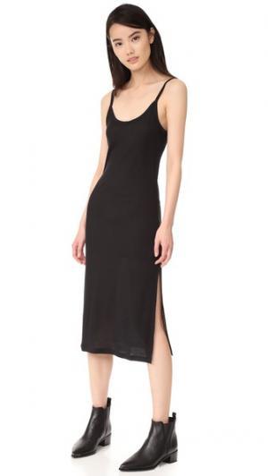 Платье без рукавов Dress 5 в рубчик BLK DNM. Цвет: голубой
