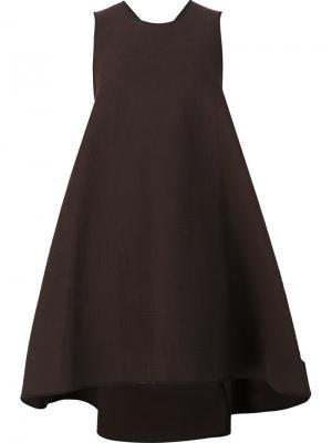 Платье свободного кроя Maticevski. Цвет: коричневый