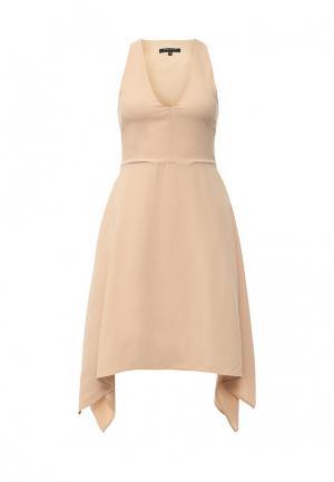 Платье Patrizia Pepe. Цвет: бежевый