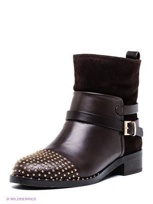 Ботинки Yaro. Цвет: темно-коричневый