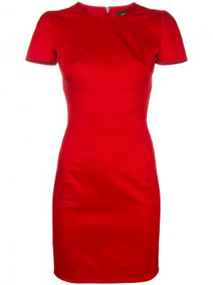 Short sleeve fitted dress Dsquared2. Цвет: красный