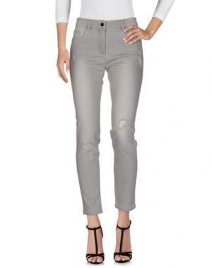 Джинсовые брюки STEFANEL. Цвет: серый