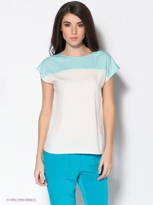 Блузка Baon. Цвет: кремовый, лазурный