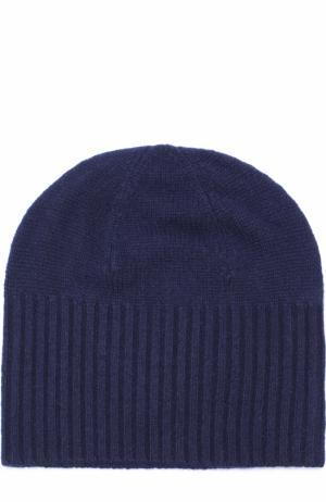 Кашемировая шапка бини Allude. Цвет: темно-синий