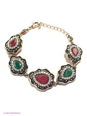 Браслет Lovely Jewelry. Цвет: зеленый, бронзовый, темно-красный