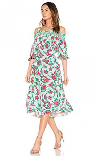 Платье amber Tanya Taylor. Цвет: мята