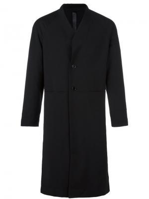 Однобортное пальто Box Odeur. Цвет: чёрный