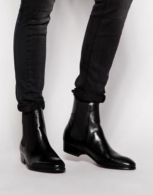Hudson London Кожаные ботинки челси Watts. Цвет: черный
