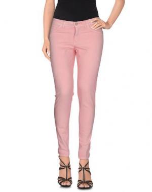 Джинсовые брюки AMY GEE. Цвет: розовый