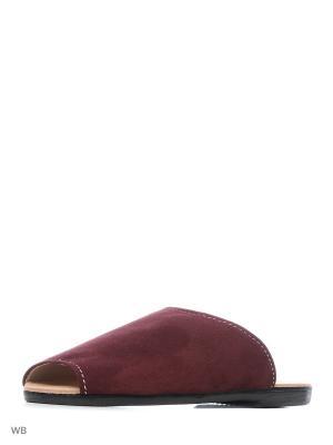 Тапочки ELLI. Цвет: бордовый
