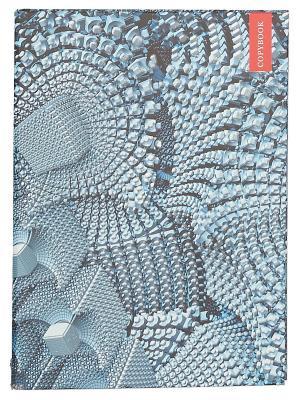 Тетрадь на кольцах 120 листов.Фрактальная графика Канц-Эксмо. Цвет: серый, белый, черный
