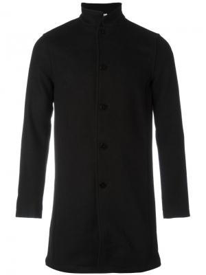 Классическое пальто на пуговицах Han Kjøbenhavn. Цвет: чёрный