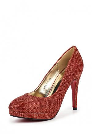 Туфли Weide. Цвет: красный