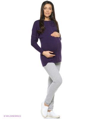 Брюки для беременных ФЭСТ. Цвет: серый