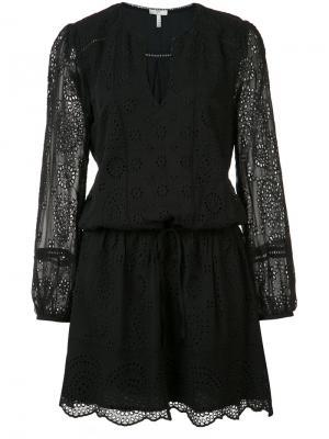 Платье с кружевным декором Joie. Цвет: чёрный
